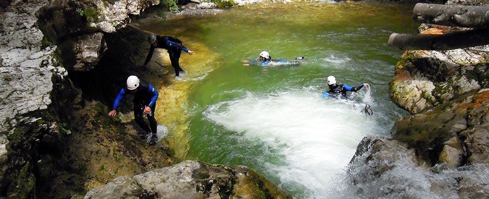 Escalade canyoning jura